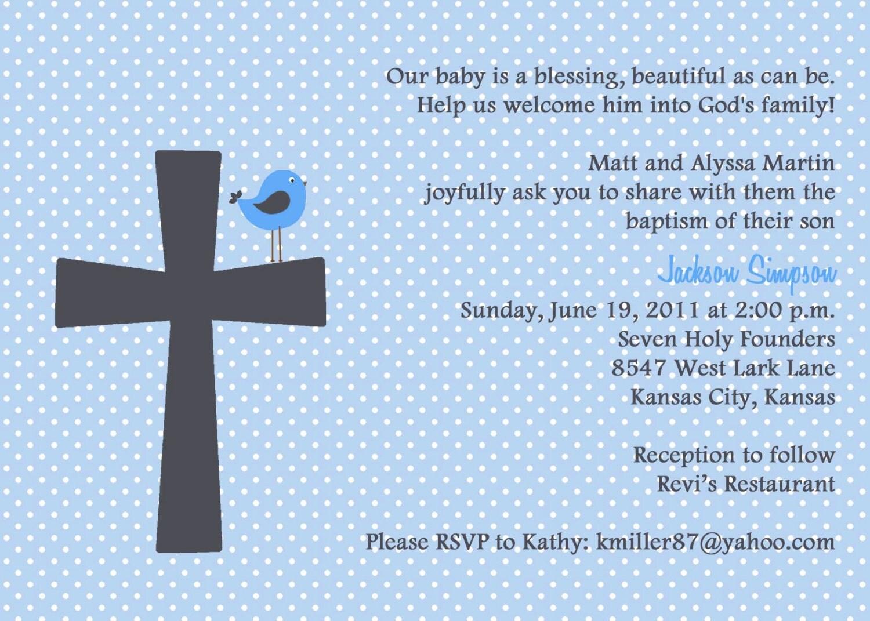 Catholic baptism invitation baptism invitation wording