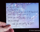 encouragment postcards PACK OF 5