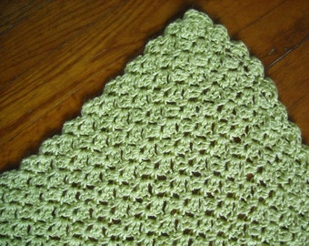 Green Afghan With Sparkle