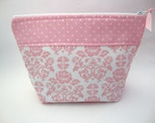 Cosmetic Bag- Pink Roses in Large