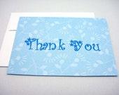 Handmade Thank You Cards - Set of 4 (blank inside)