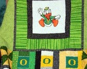 University of Oregon Ducks Baby Quilt  Floor Size Custom Order ...Do You Hear Them Quacking  Reserve yours today