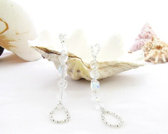 Barefoot Sandals Sparkly Crystal Look