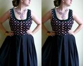Sale Frieda Kahlo Dirndl Dress with Floral Bodice XL Clearance Oktoberfest