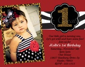 Zebra Leopard Print Birthday Invitation - Animal Print Invitations