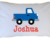 Personalized Car Pillow Case, Toddler, Travel, Standard Size