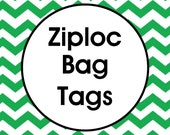 Ziploc Bag Treat Tags OR Cellophane Bag Tags Printable ANY DESIGN in our Shop