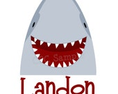 Shark T Shirt or Bodysuit Personalized