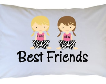 Personalized Best Friends BFF Pillow Case