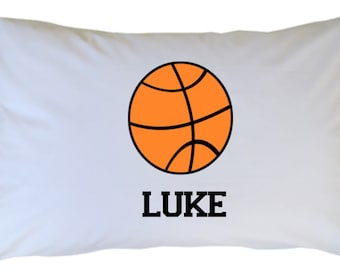 Basketball Pillow Case Personalized Basketball PillowCase Travel or Standard Size