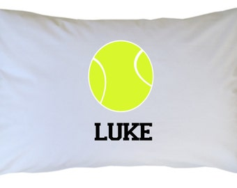 Tennis Ball Pillow Case, Personalized, Travel or Standard Size