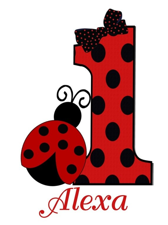 Ladybug Personalized T Shirt Personalized by OneWhimsyChick