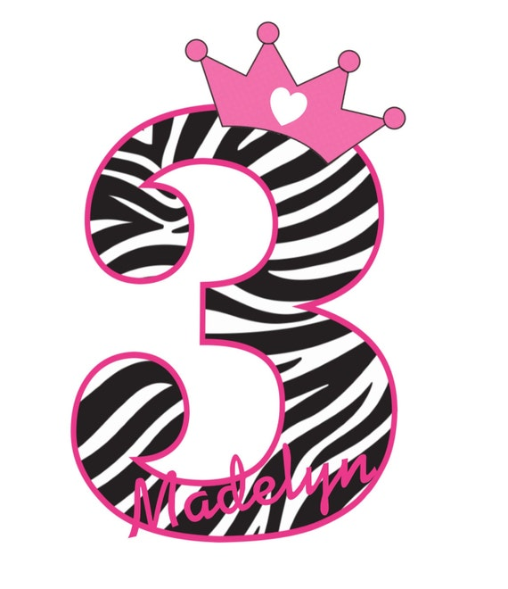 Items Similar To Zebra Print Birthday Shirt Personalized