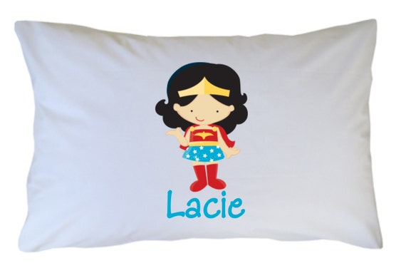 Girls Superhero Pillow Case Personalized, Personalized Superhero PillowCase, Girls, Travel or Standard Size