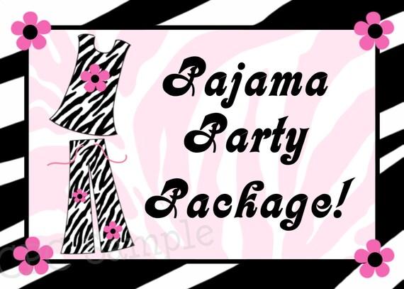 hnliche artikel wie pyjama party geburtstag einladung geburtstag dekoration party dekorationen. Black Bedroom Furniture Sets. Home Design Ideas