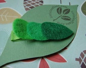 Lots of Leaves Felt Hair Clip