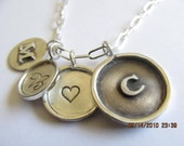 Framed Disc Necklace with four sterling discs