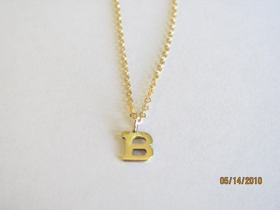 14k Itty Bitty Initial Necklace