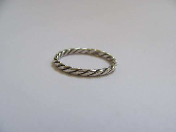 Sterling Silver Entwined Wire Ring