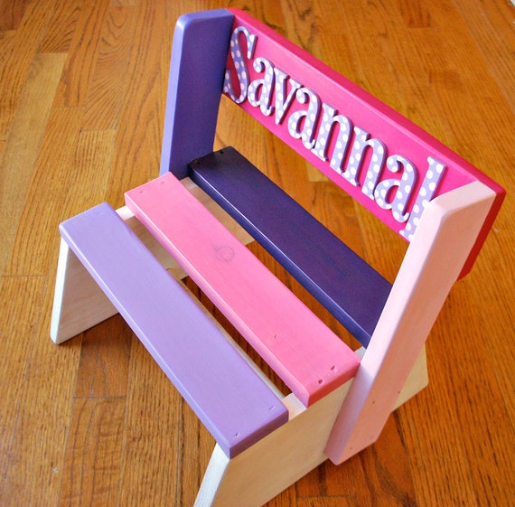 Items Similar To Step Stool For Kids Personalized Step