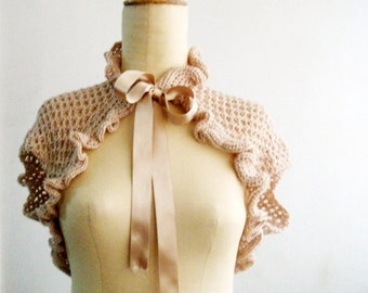 Victorian Shrug, Crochet Bolero, Wedding Bridal Wrap
