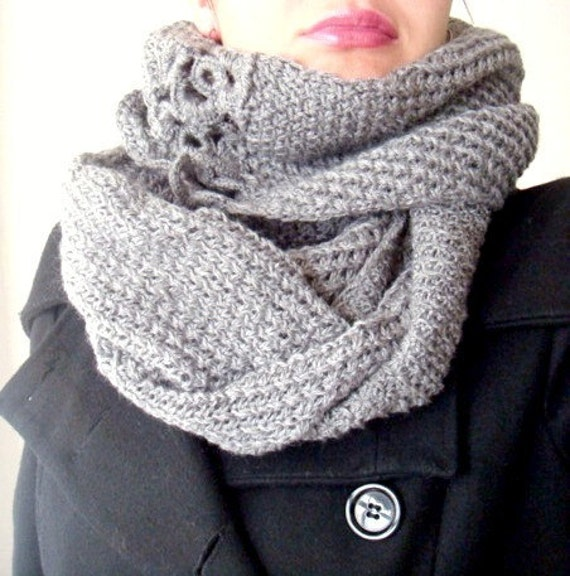 PDF Knitting PATTERN Infinity Scarf Cowl Circle Loop by faima