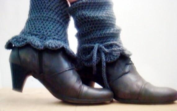 CROCHET PATTERN Leg Warmers, Pattern Crochet Spats, Leg Cuffs Crocheting Pattern