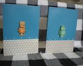 Handmade kids Robot Birthday card
