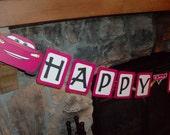 Disney Pixar Cars Happy Birthday Banners