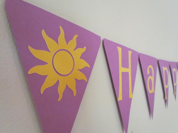 Tangled Birthday Banner  Happy Birthday Banner