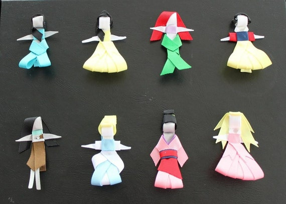 U CHOOSE... 4 Princess No Slip Character Hair Clip Clippies