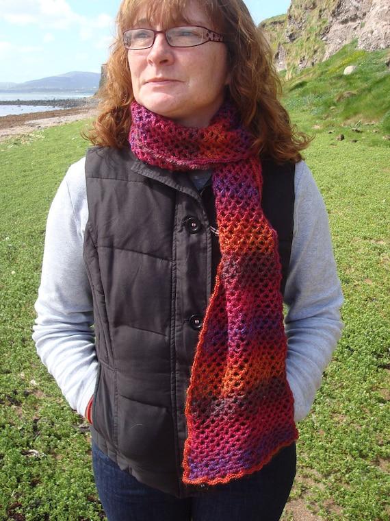 Crochet Striped Scarf Handmade in Ireland