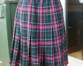 Vintage Pendleton School Girl Preppy Plaid Kilt Skirt