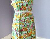 Vintage Summer Sleeveless Flowered Dress by June Moon