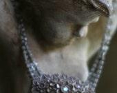 Lavender Lane - assemblage necklace