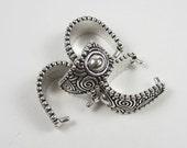 4 Tierracast Silver Large Spiral Pinch Bails