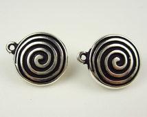 Tierracast Silver Spiral Clip On