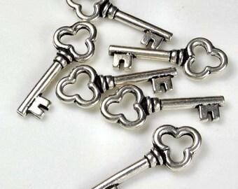 20 Silver Tierracast Key Charms