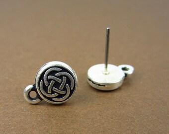 Silver Tierracast Celtic Circle Posts