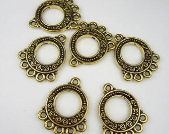 6 Gold Tierracast 5-1 Spiral Links