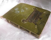 C1887 Victorian Antique Scrapbook Over 60 Colorful Pgs