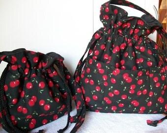 SALE!!  Cherries-  Mother - Daughter - Bags