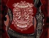 Women's Se7en Deadly ENVY Tee in Black or crimson