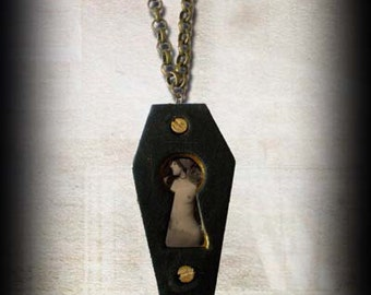 Keyhole Coffin Necklace