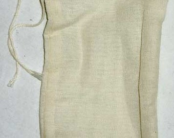 Muslin Draw String Bags Pouches 100% Cotton