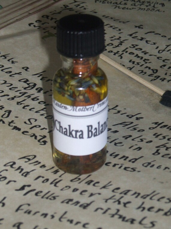 Chakra Balancing Oil Wicca Pagan Ceremonies Ritual Spells Spirituality Hoodoo Witchcraft Metaphysical MaidenMotherCrone