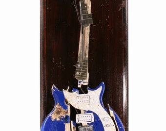 Ray Davies Full Size Smashed Guitar Sculpture by Chris Blake Chappell