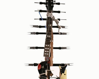 Keith Richards Full Size Smashed Guitar Sculpture