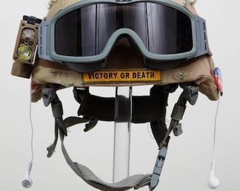 Rockin' In The Free World Marine Kevlar Helmet Sculpture