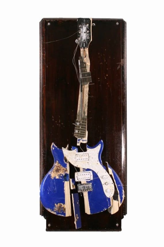 Ray Davies Full Size Smashed Guitar Sculpture